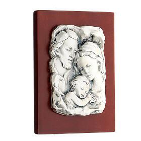 Św. Rodzina płaskorzeźba posrebrzany metal s2