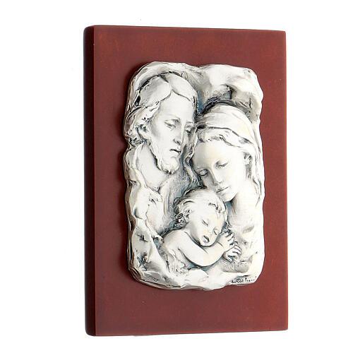 Św. Rodzina płaskorzeźba posrebrzany metal 2