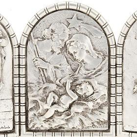 Bassorilievo trittico S. Famiglia Crocifissione Annunciazione s4