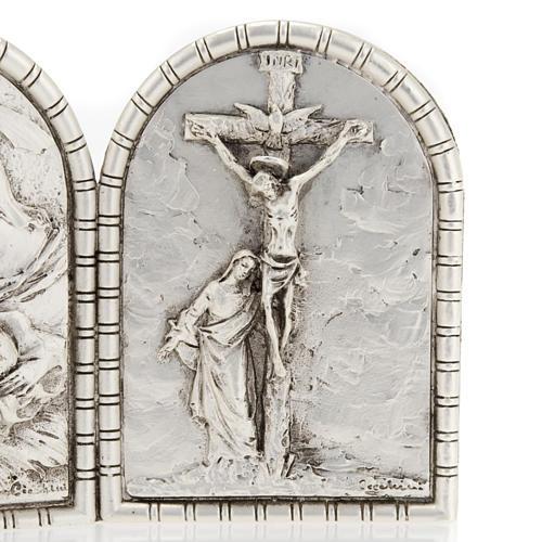 Bassorilievo trittico S. Famiglia Crocifissione Annunciazione 3