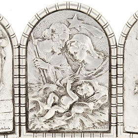 Bas-relief Triptych, Holy Family, Crucifixion, Annunciation s4