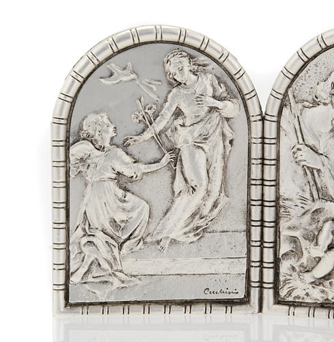 Bas-relief Triptych, Holy Family, Crucifixion, Annunciation 2