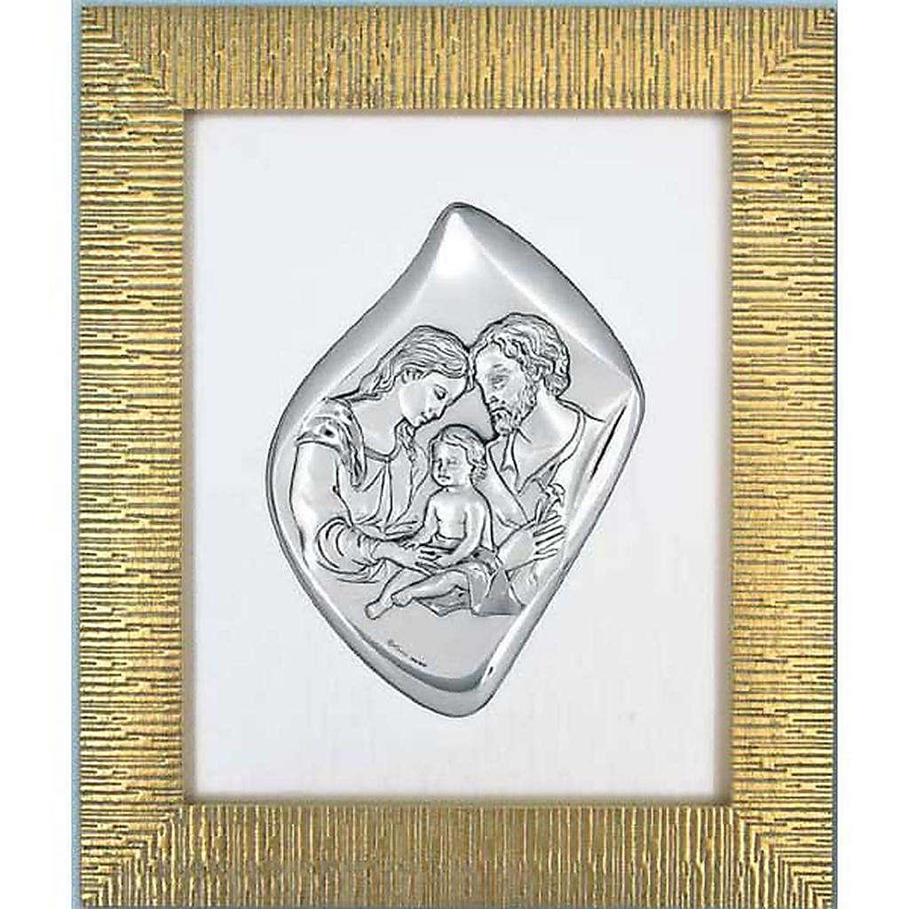 Bajorrelieve Sagrada Familia, plata y marco dorado | venta online en ...
