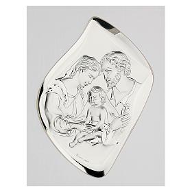 Święta Rodzina płaskorzeźba posrebrzana ramka poz s2