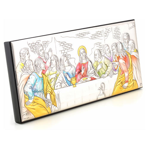 Bas-relief Last Supper, silver and colours 2