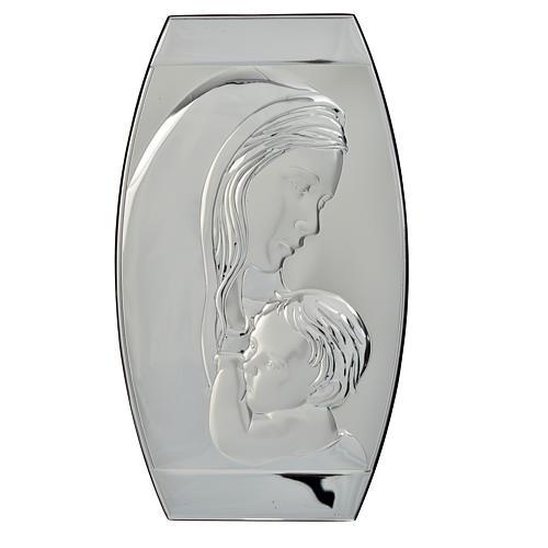 Cadre bas relief Vierge à l'Enfant 20x33 cm 1