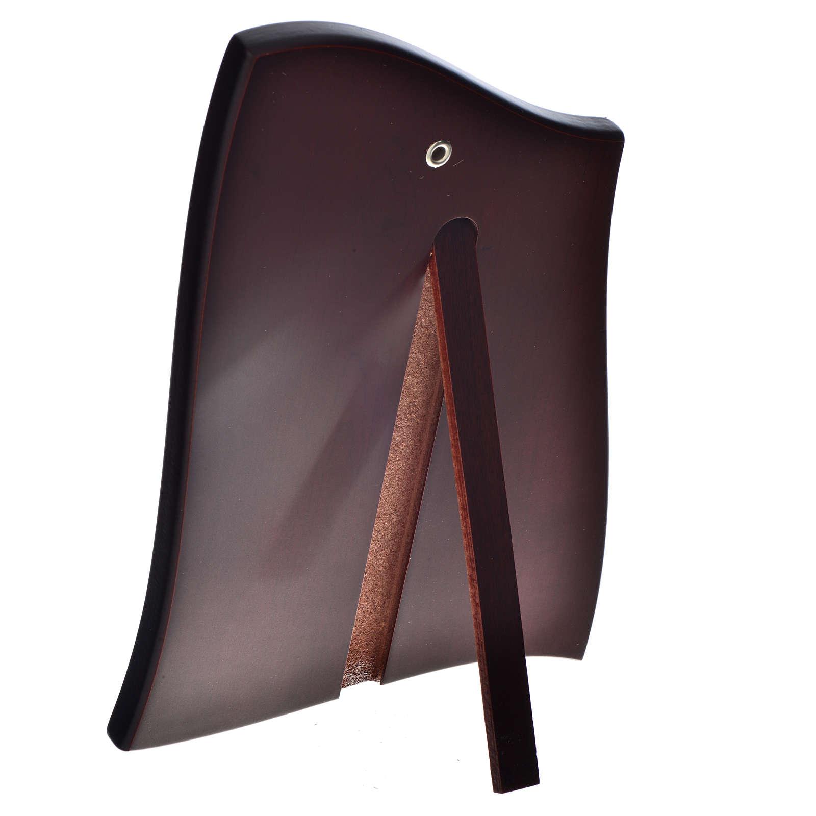 Quadro sagomato Madonna Bambino lastra 20x28cm 4