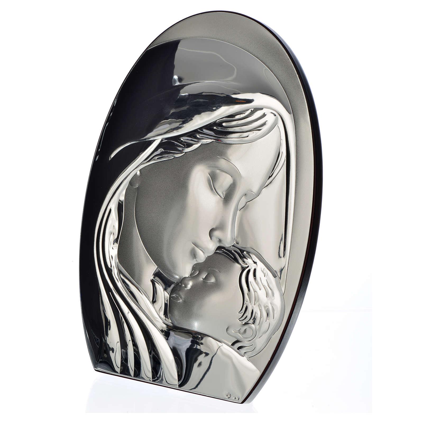 Obraz łuk Madonna i Dzieciątko płytka srebra 20x28 cm 4