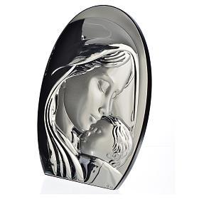 Obraz łuk Madonna i Dzieciątko płytka srebra 20x28 cm s2