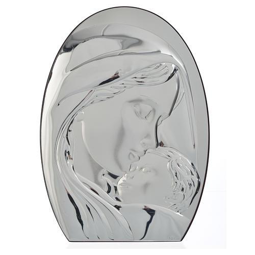 Obraz łuk Madonna i Dzieciątko płytka srebra 20x28 cm 1