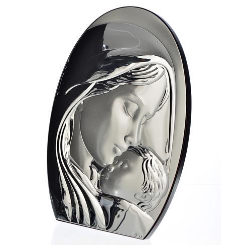 Obraz łuk Madonna i Dzieciątko płytka srebra 20x28 cm 2