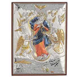 Quadro Madonna che scioglie i nodi Arg colorato 8x11 s1