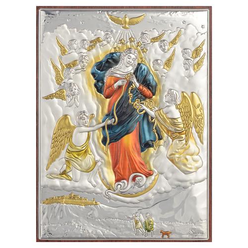 Obraz Matka Boża rozwiązująca węzły srebro kolorowe 13x18 1