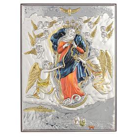 Tableau Marie qui défait les noeuds argent 925 19x26cm s1