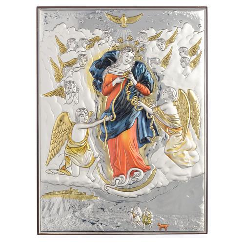 Quadro Madonna scioglie i nodi Argento 19x26 1