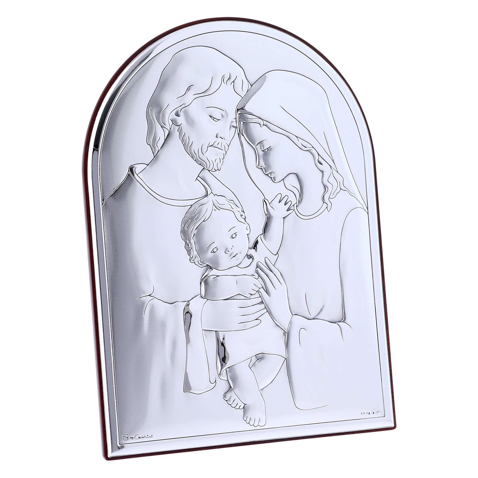 Cuadro de bilaminado Sagrada Familia con parte posterior de madera preciosa 18x13 cm 4