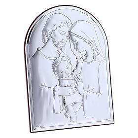 Cuadro de bilaminado Sagrada Familia con parte posterior de madera preciosa 18x13 cm s2