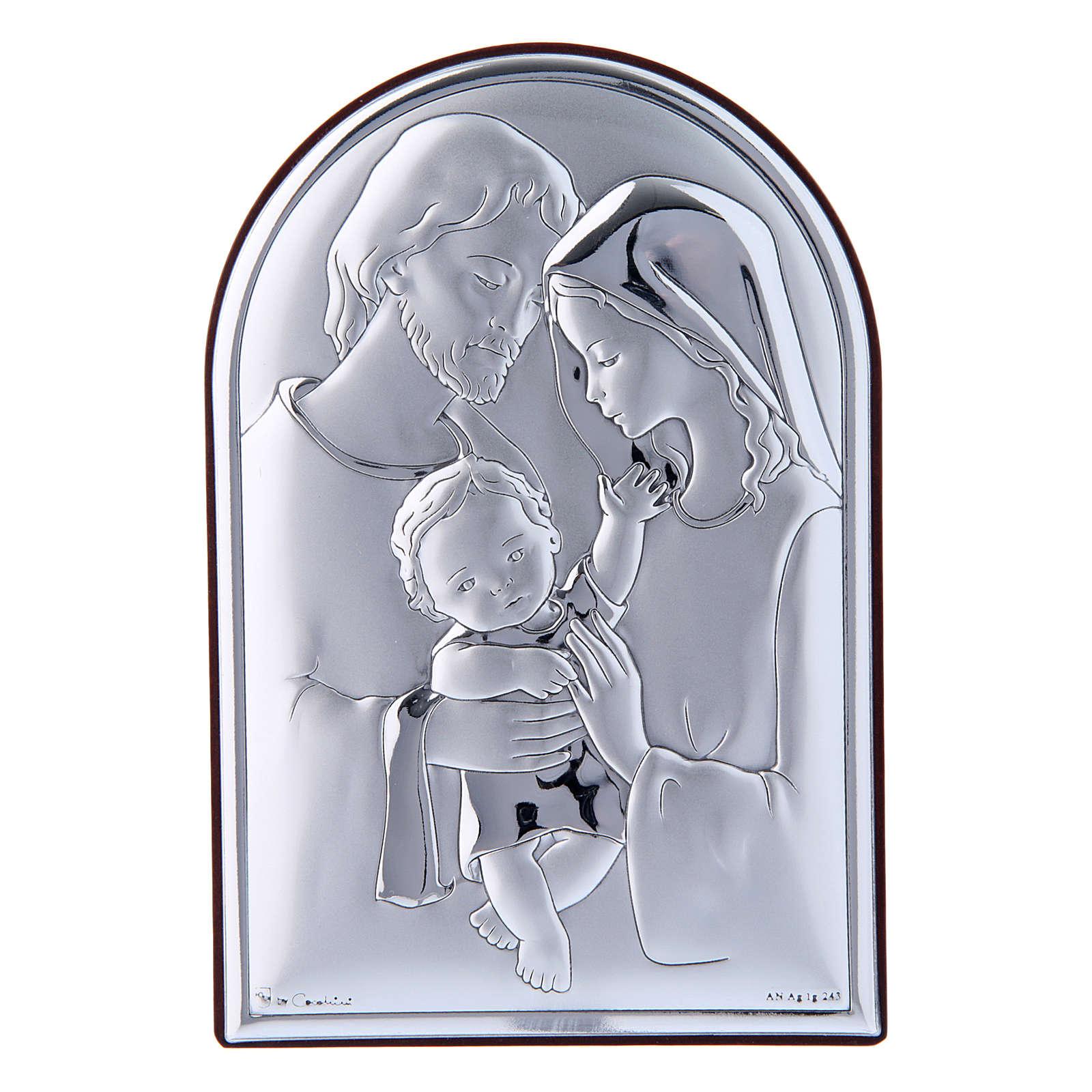 Obraz Święta Rodzina bilaminat tył z prestiżowego drewna 12x8 cm zaokrąglony na górze 4