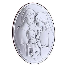 Quadro Sacra Famiglia bilaminato con retro in legno pregiato 18X13 cm s2