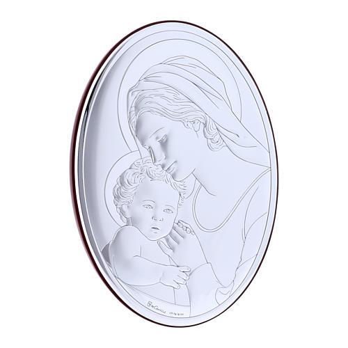 Quadro in bilaminato con retro in legno pregiato Madonna con Bambino 18X13 cm 2