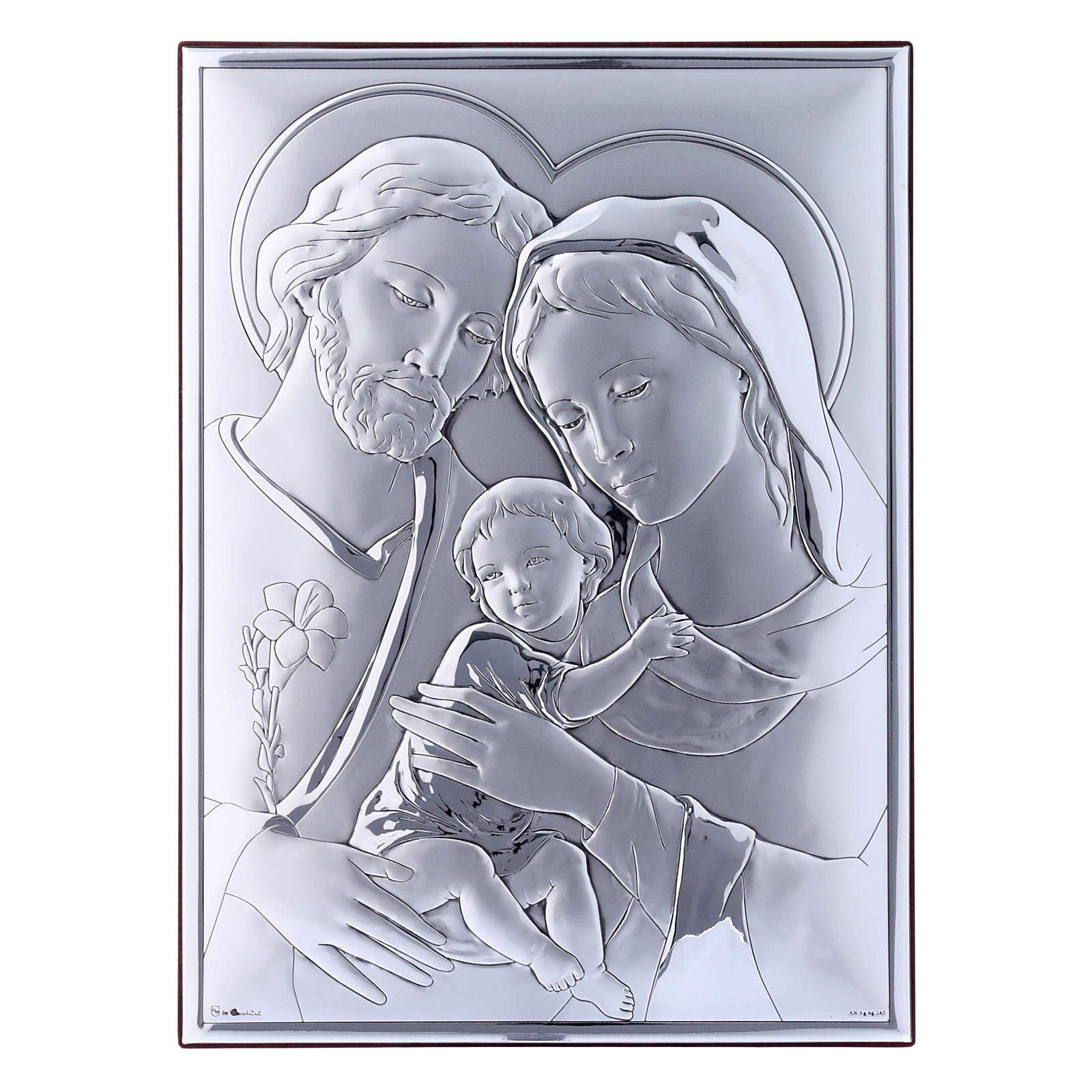Quadro in bilaminato con retro in legno pregiato Sacra Famiglia 26X19 cm  4