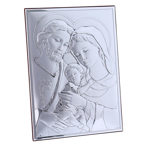 Quadro in bilaminato con retro in legno pregiato Sacra Famiglia 26X19 cm  2