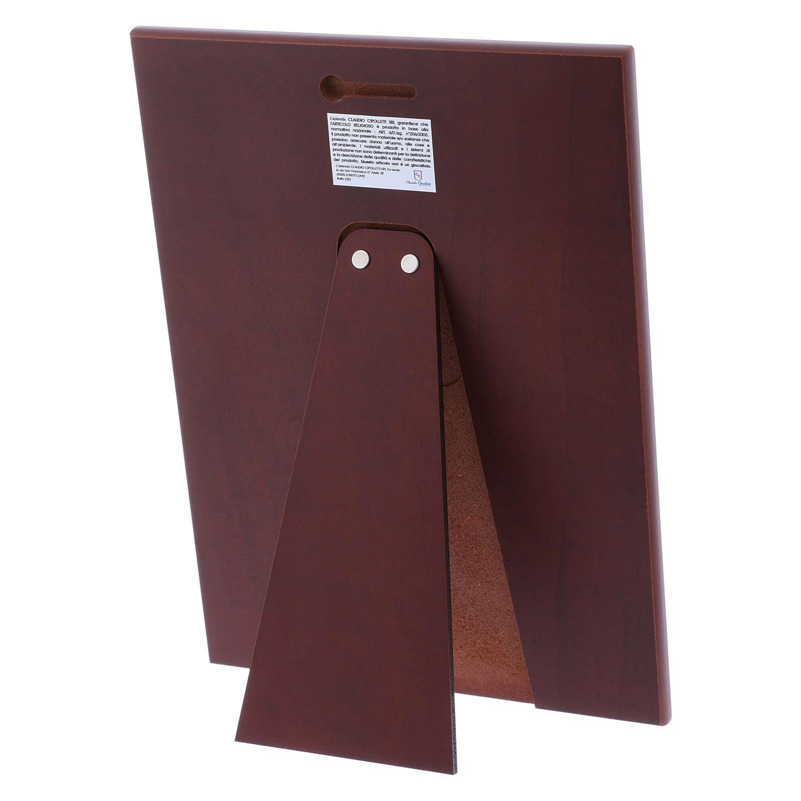 Quadro in bilaminato con retro in legno pregiato 26X19 cm 4