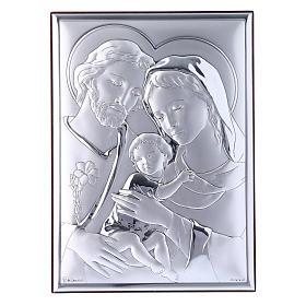 Quadro Sacra Famiglia in bilaminato con retro in legno pregiato 18X13 cm s1