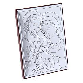 Quadro Sacra Famiglia in bilaminato con retro in legno pregiato12X8 cm s2