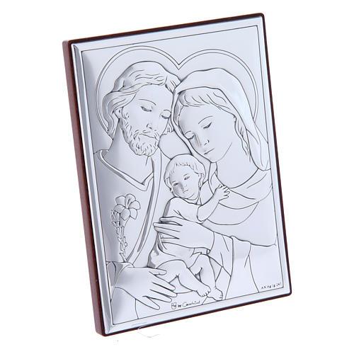 Quadro Sacra Famiglia in bilaminato con retro in legno pregiato12X8 cm 2
