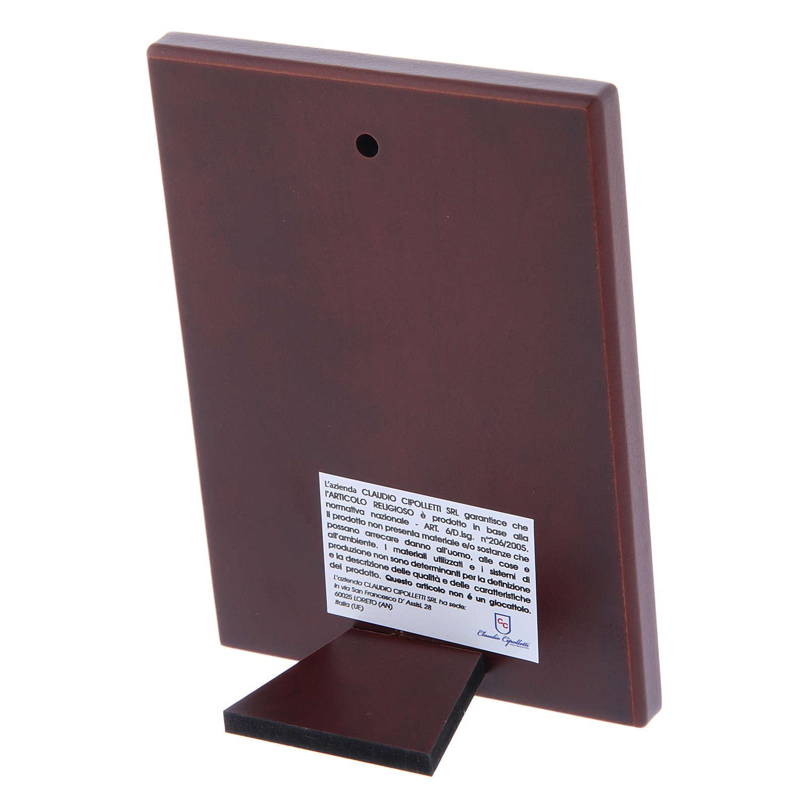 Quadro in bilaminato con retro in legno pregiato 12X8 cm 4