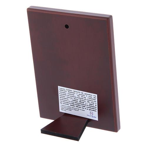 Quadro in bilaminato con retro in legno pregiato 12X8 cm 3