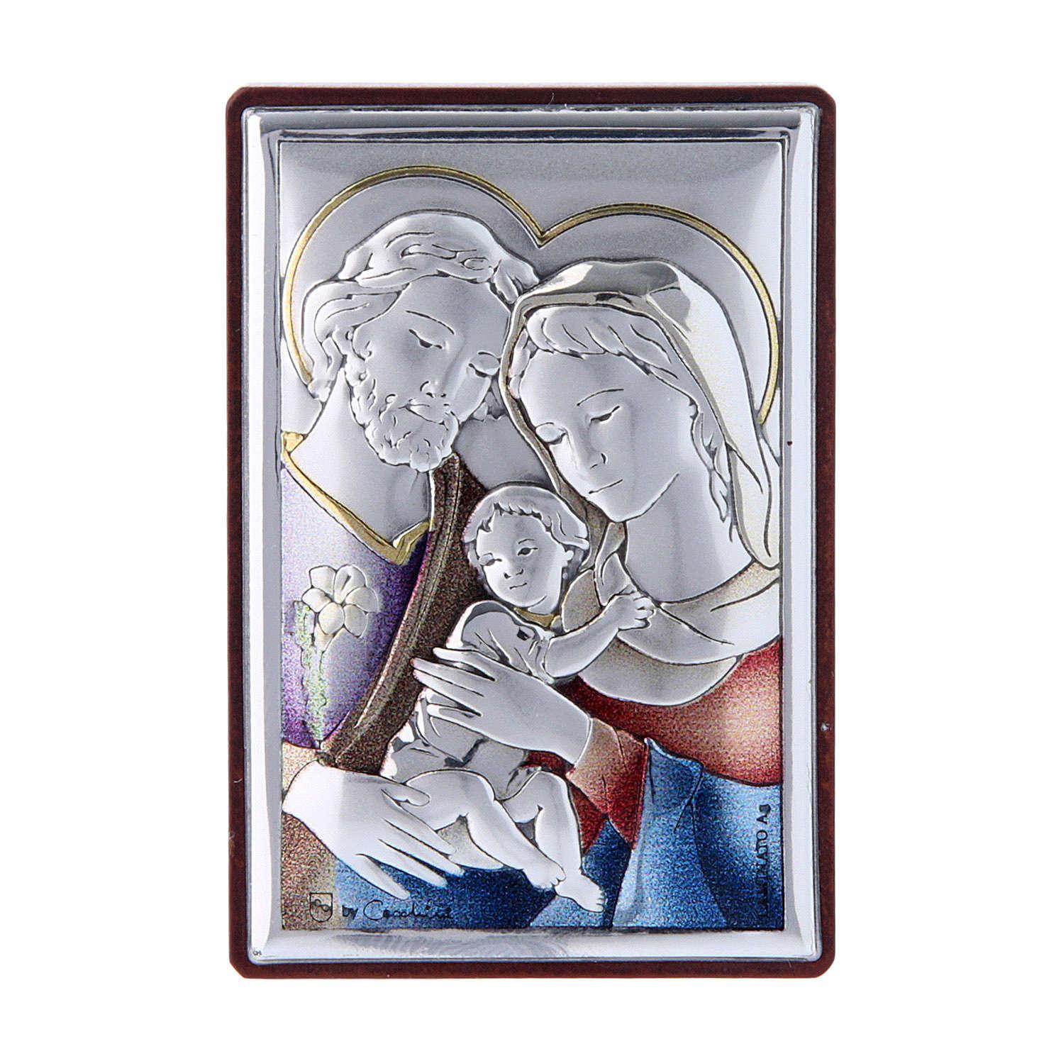 Obraz Święta Rodzina bilaminat kolorowy tył z prestiżowego drewna 6x4 cm 4