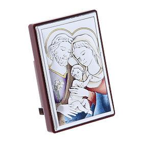 Obraz Święta Rodzina bilaminat kolorowy tył z prestiżowego drewna 6x4 cm s2