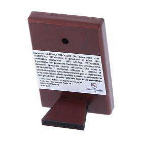 Quadro 6X4 cm in bilaminato con retro in legno pregiato s3