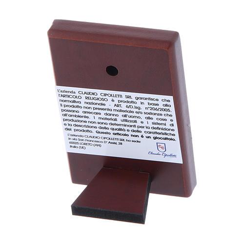 Quadro 6X4 cm in bilaminato con retro in legno pregiato 3