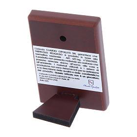 Cuadro Virgen bilaminado con parte posterior de madera preciosa 6x4 cm s3