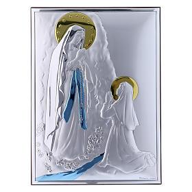 Obraz Madonna z Lourdes bilaminat kolorowy tył z prestiżowego drewna 26x19 cm s1