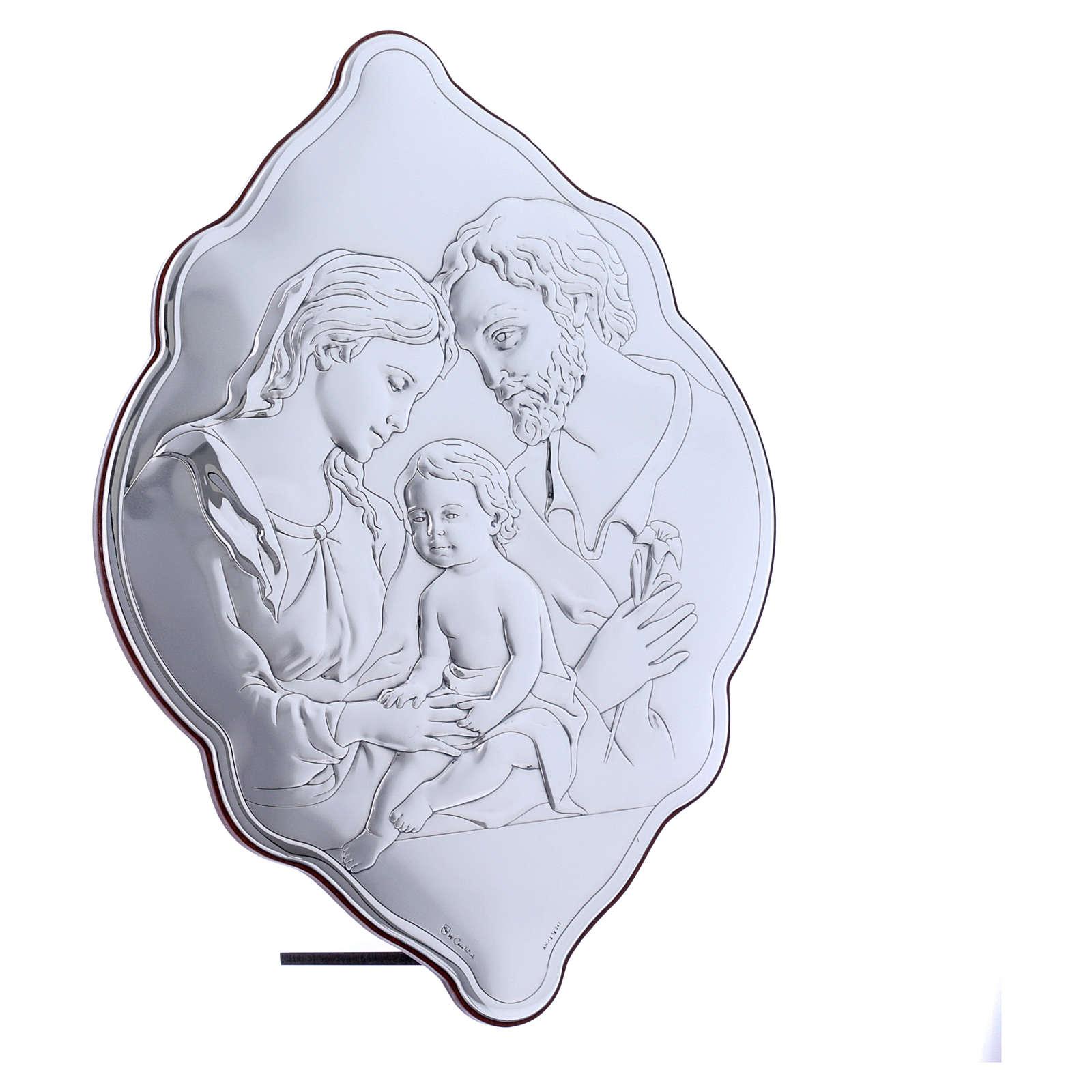 Quadro 31X21 cm in bilaminato con retro in legno pregiato Sacra Famiglia 4