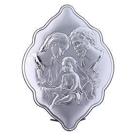 Quadro 31X21 cm in bilaminato con retro in legno pregiato Sacra Famiglia s1