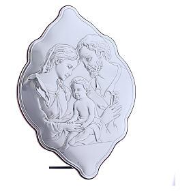 Quadro 31X21 cm in bilaminato con retro in legno pregiato Sacra Famiglia s2