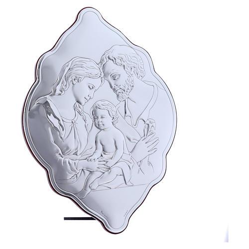 Quadro 31X21 cm in bilaminato con retro in legno pregiato Sacra Famiglia 2