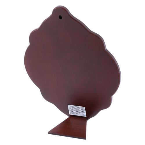 Quadro in bilaminato con retro in legno pregiato 31X21 cm 3