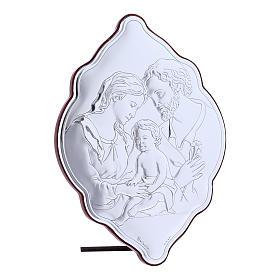 Quadro Sacra Famiglia in bilaminato con retro in legno pregiato 21X14 cm s2