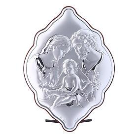 Obraz Święta Rodzina bilaminat tył z prestiżowego drewna 21x14 cm forma nieregularna s1
