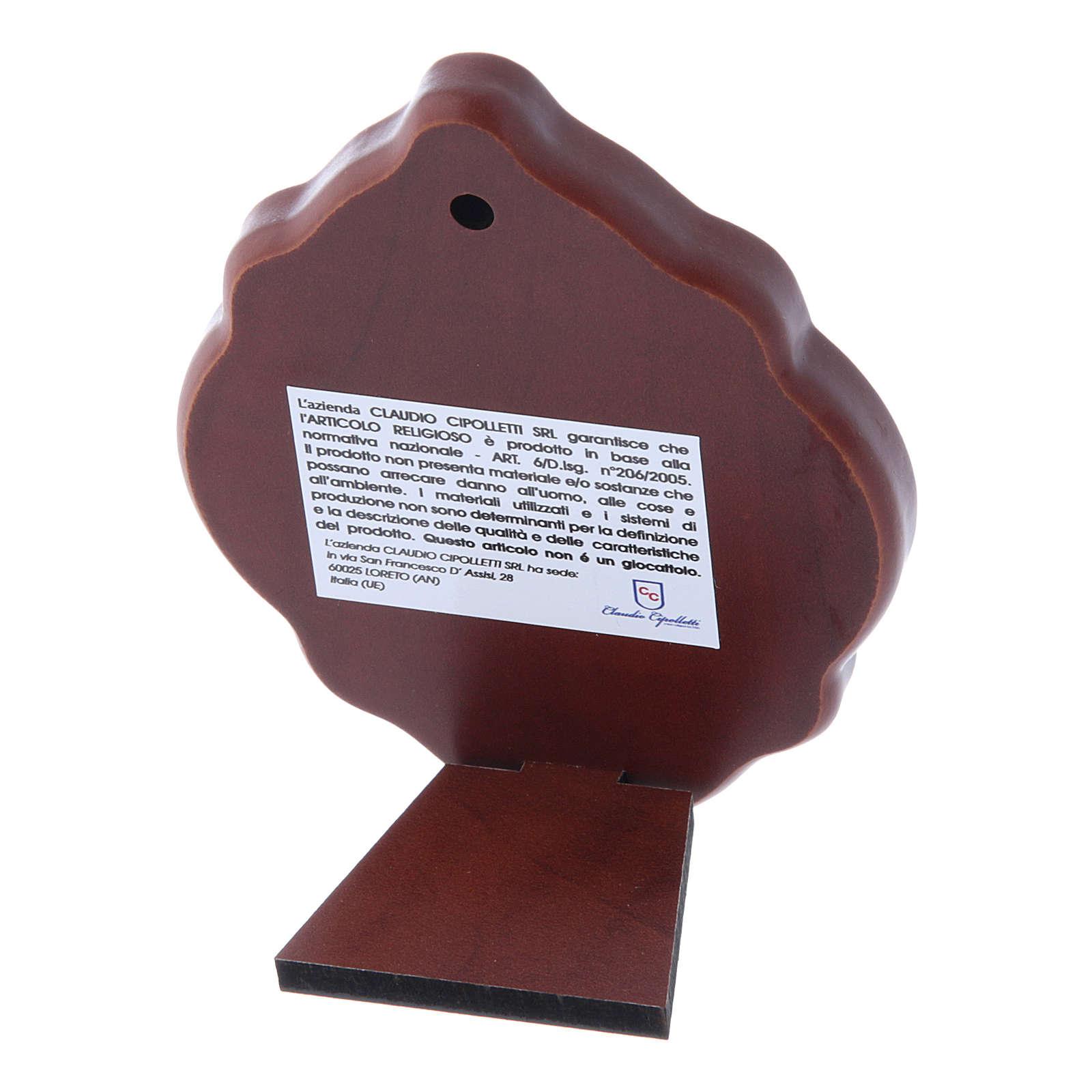 Quadro in bilaminato con retro in legno pregiato Maria 10X7 cm 4