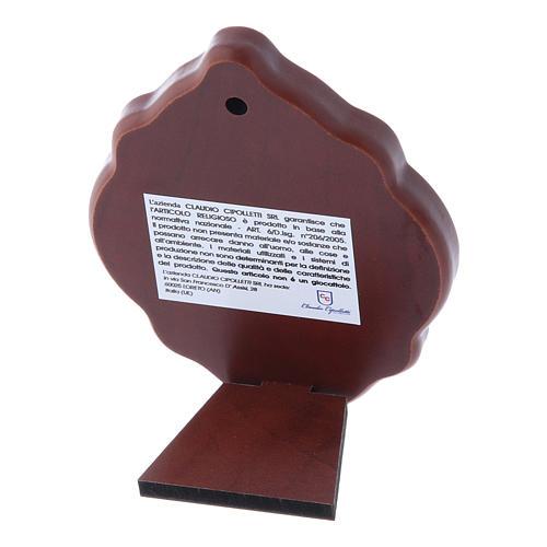 Quadro in bilaminato con retro in legno pregiato Maria 10X7 cm 3