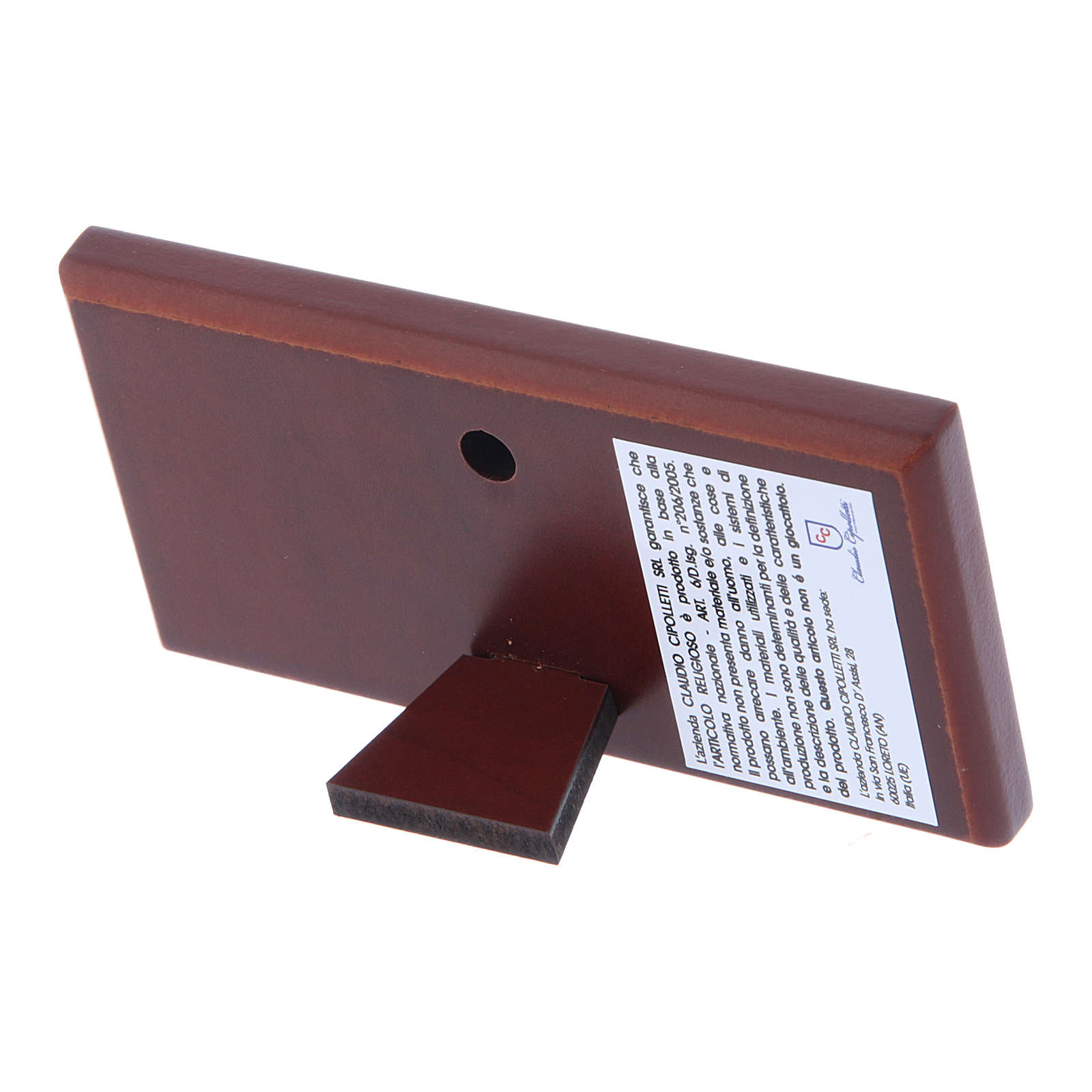 Quadro bilaminato retro legno pregiato Ultima Cena 4,7X9,4 cm 4
