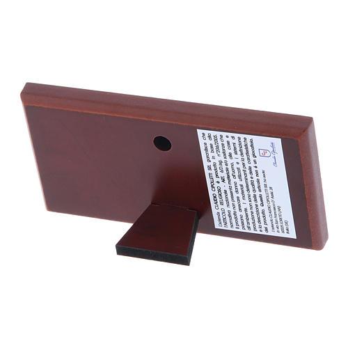 Quadro Ultima Cena colorato bilaminato retro legno pregiato 4,7X9,4 cm 3