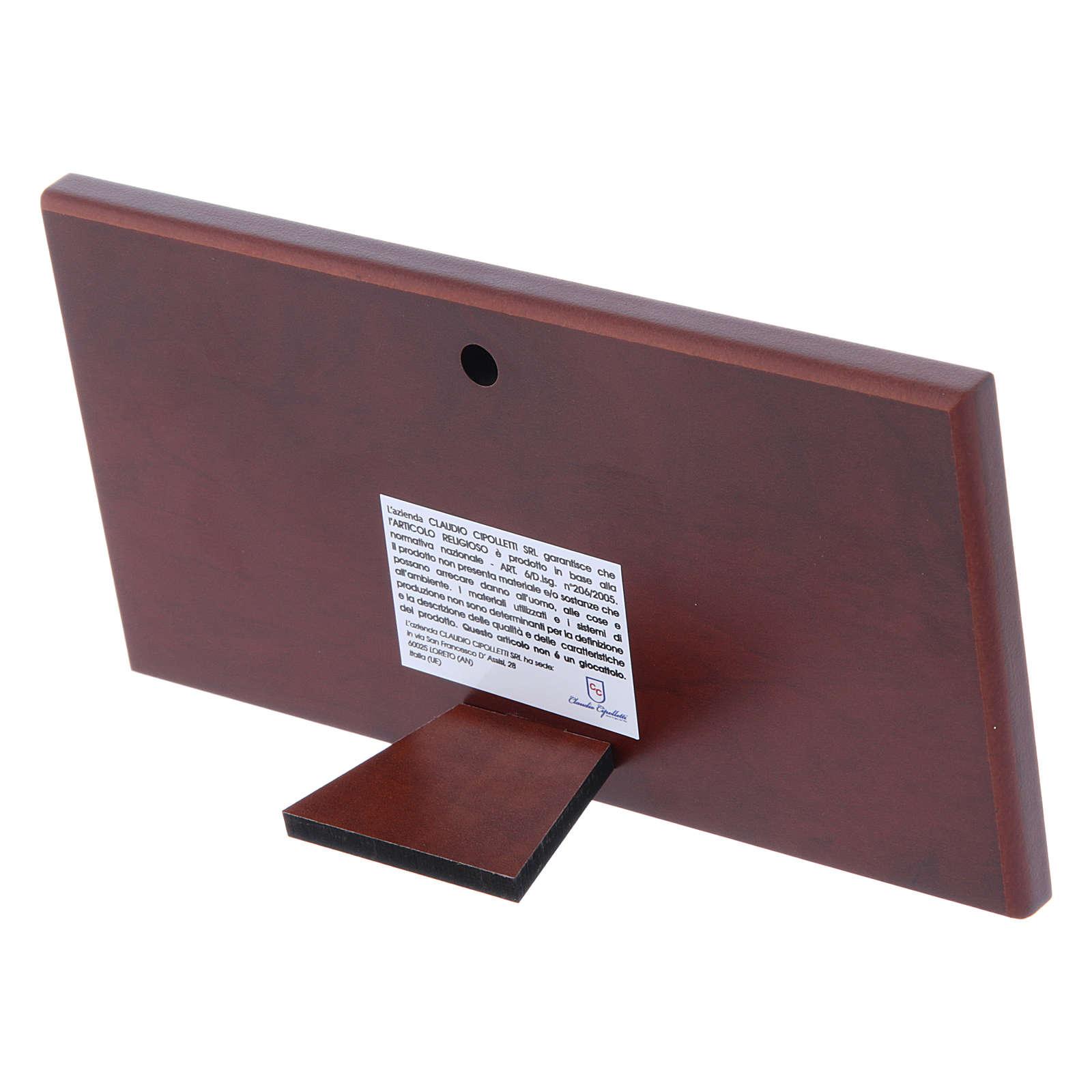 Cuadro bilaminado parte posterior madera preciosa Última Cena 7,5x15 cm 4